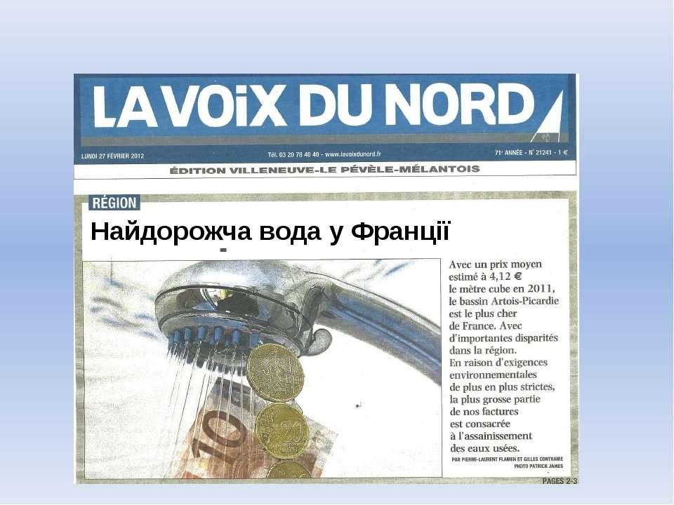 Найдорожча вода у Франції
