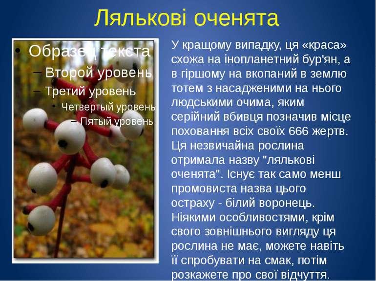 Лялькові оченята У кращому випадку, ця «краса» схожа на інопланетний бур'ян, ...