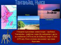 Утворені в розломах земної кори – грабенах. Танганьїка – рифтове озеро.Це най...
