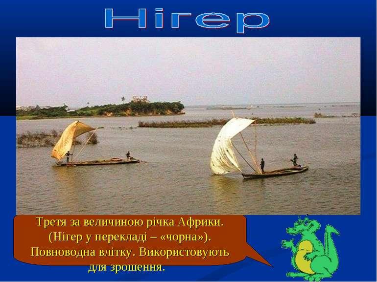 Третя за величиною річка Африки. (Нігер у перекладі – «чорна»). Повноводна вл...