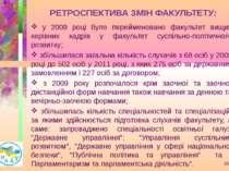 РЕТРОСПЕКТИВА ЗМІН ФАКУЛЬТЕТУ: у 2009 році було перейменовано факультет вищих...
