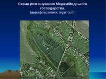 Схема розташування Меджибіждського господарства. (аерофотознімок території).