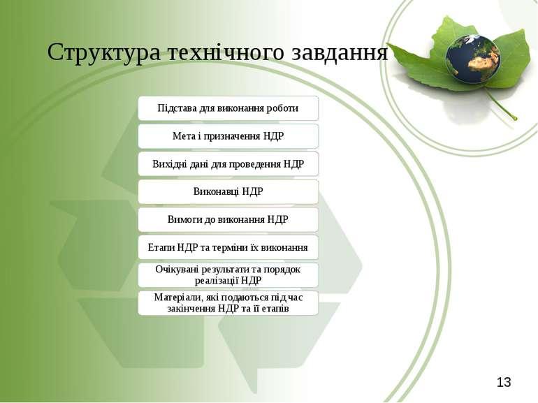 Структура технічного завдання 13 Підстава для виконання роботи Мета і признач...