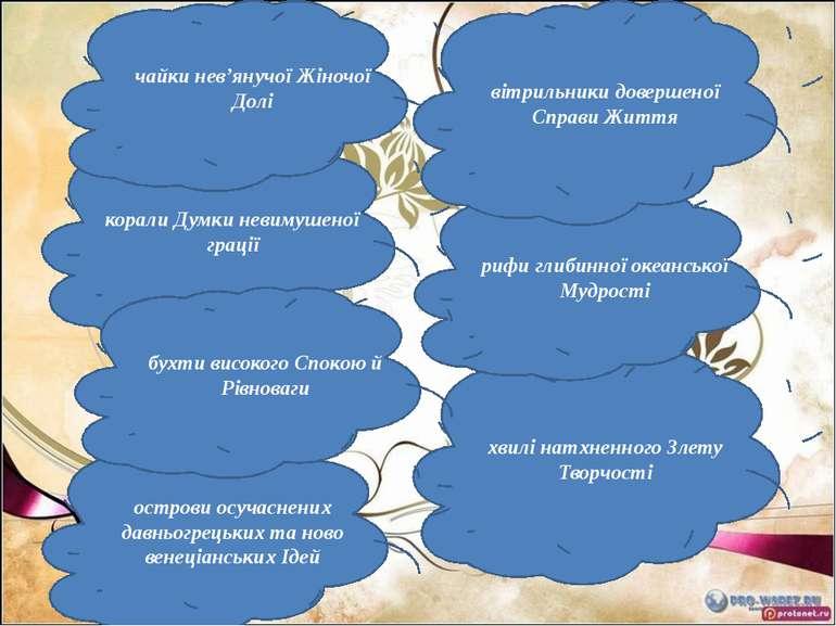 хвилі натхненного Злету Творчості рифи глибинної океанської Мудрості корали Д...