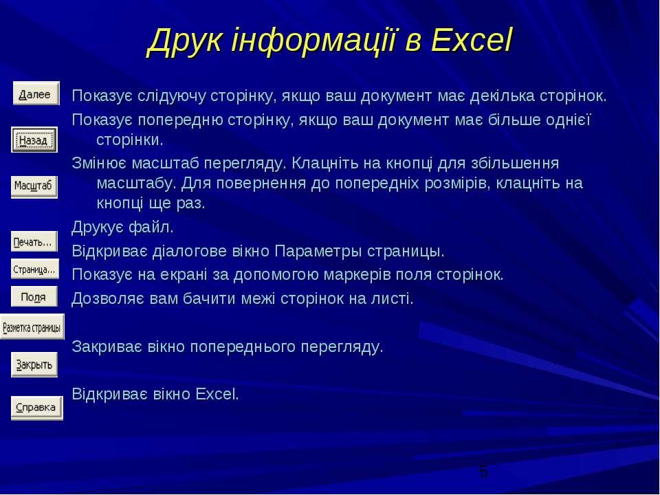 Друк інформації в Excel Показує слідуючу сторінку, якщо ваш документ має декі...