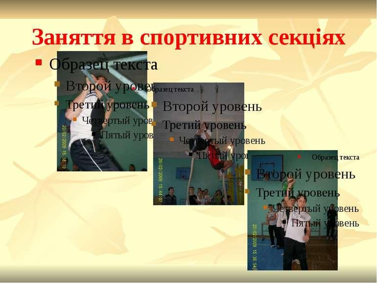 Заняття в спортивних секціях