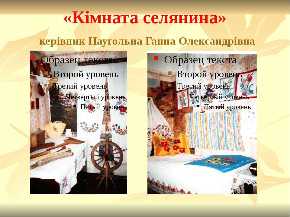 «Кімната селянина» керівник Наугольна Ганна Олександрівна