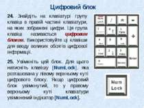 Цифровий блок 24. Знайдіть на клавіатурі групу клавіш в правій частині клавіа...