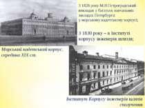 З 1828 року М.В.Остроградський викладав у багатьох навчальних закладах Петерб...