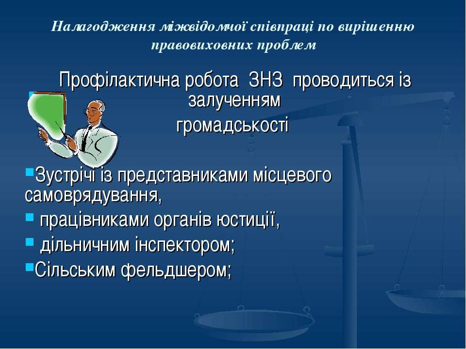 Налагодження міжвідомчої співпраці по вирішенню правовиховних проблем Профіла...