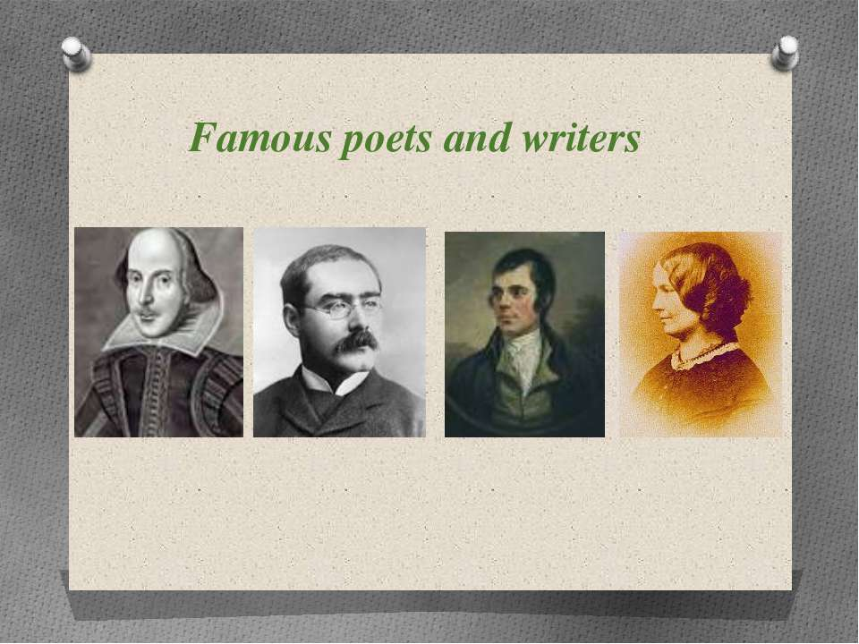 Famous poets and writers