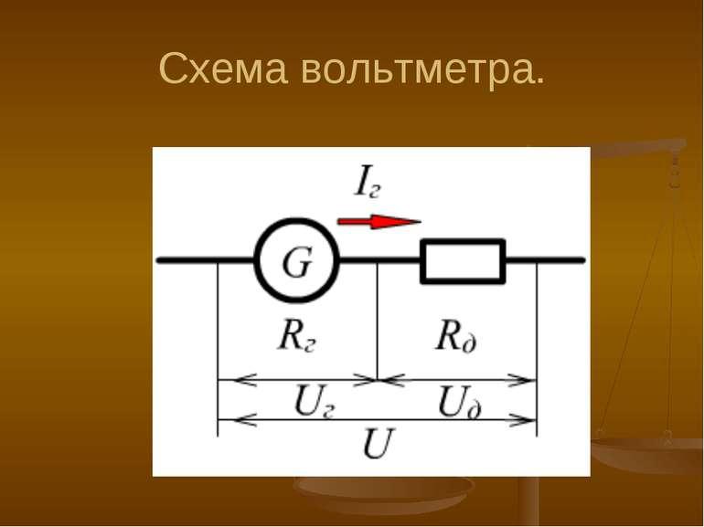 Схема вольтметра.