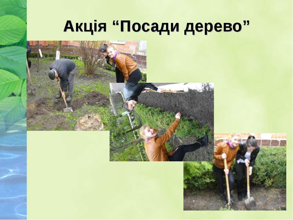 """Акція """"Посади дерево"""""""