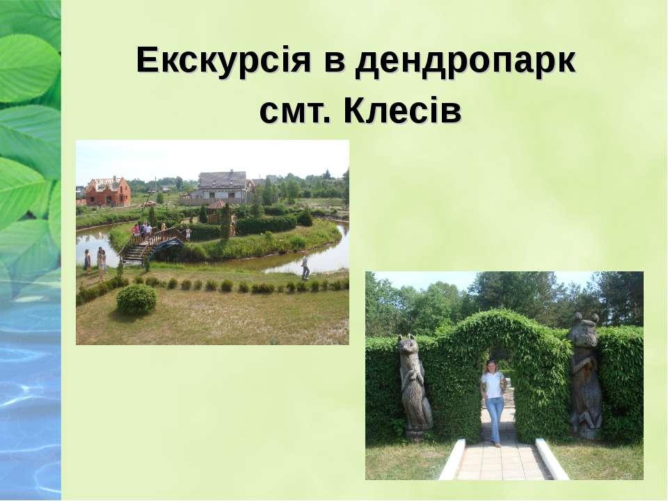 Екскурсія в дендропарк смт. Клесів