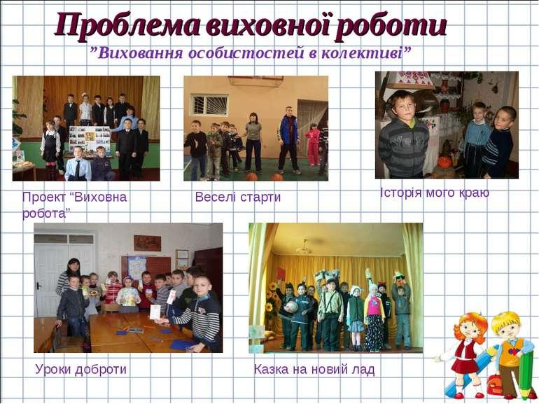 """Проблема виховної роботи """"Виховання особистостей в колективі"""" Проект """"Виховна..."""