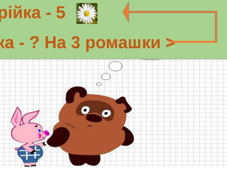 Марійка - 5 Оленка - ? На 3 ромашки >