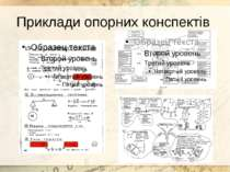 Приклади опорних конспектів