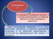 Інспектування це періодичне проведення перевірок зі сторони уповноважених на ...