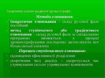 Теоретичні основи рідинної хроматографії Методи елюювання: ізократичне елююва...