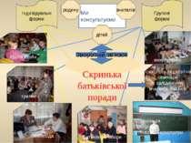 Зворотній зв'язок Ми консультуємо Індивідуальні форми Групові форми Організац...
