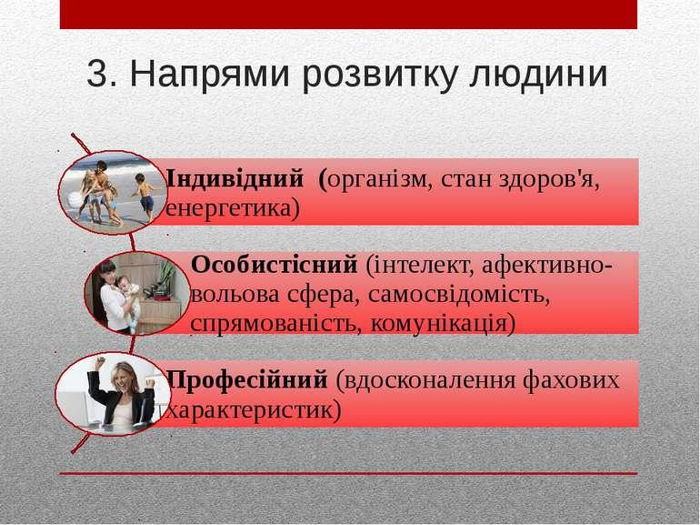 3. Напрями розвитку людини