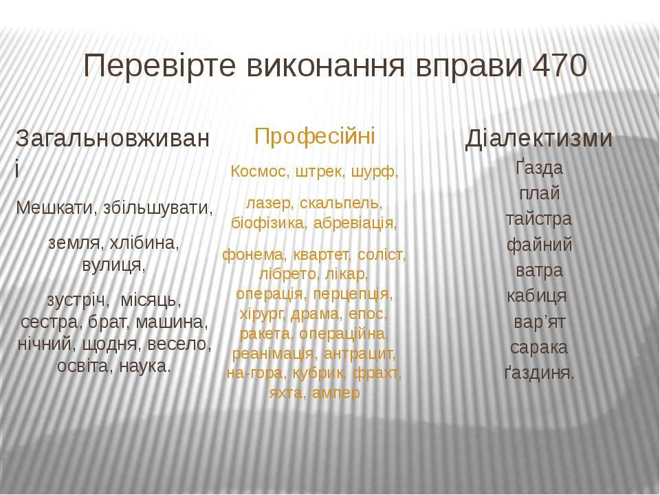 Перевірте виконання вправи 470 Загальновживані Мешкати, збільшувати, земля, х...