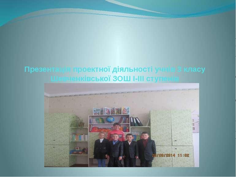 Презентація проектної діяльності учнів 3 класу Шевченківської ЗОШ І-ІІІ ступенів