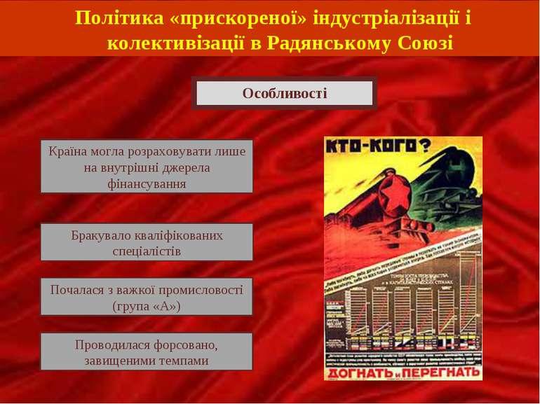 Політика «прискореної» індустріалізації і колективізації в Радянському Союзі ...