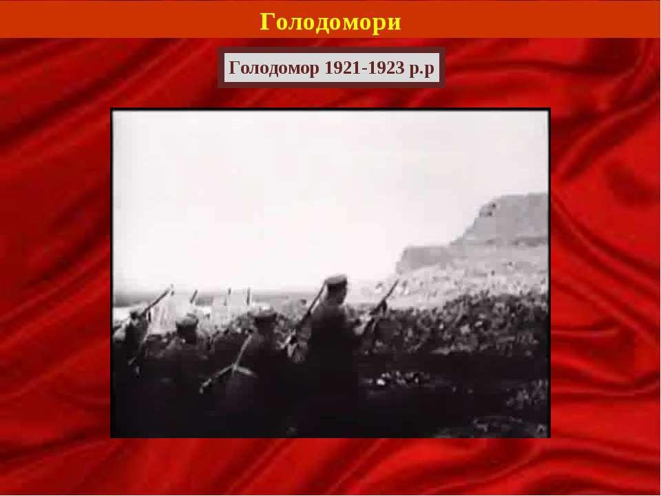 Голодомори Голодомор 1921-1923 р.р