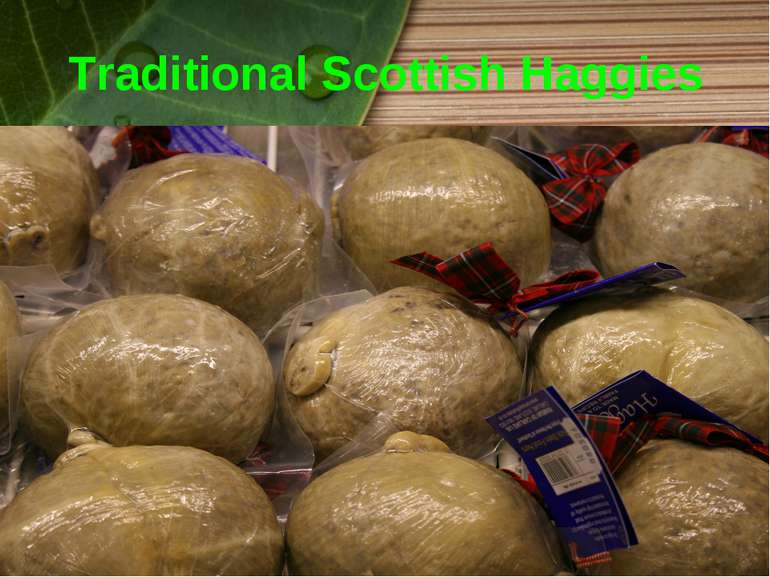 Traditional Scottish Haggies