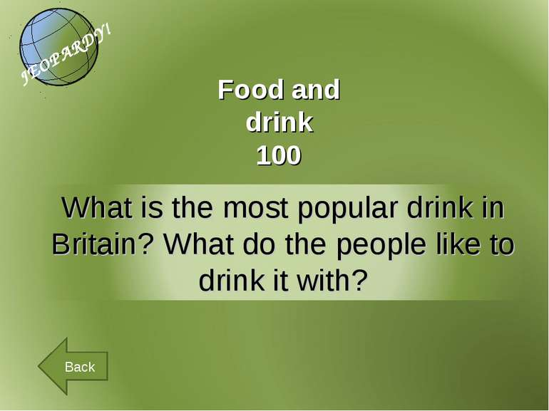 Food and drink 100 Back