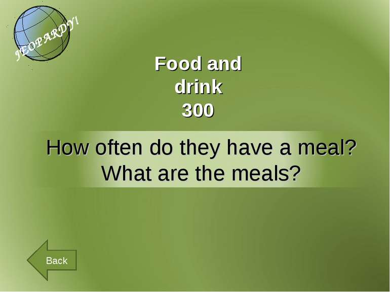 Food and drink 300 Back
