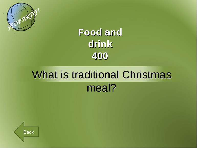 Food and drink 400 Back