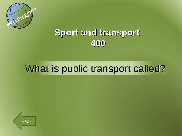 Sport and transport 400 Back