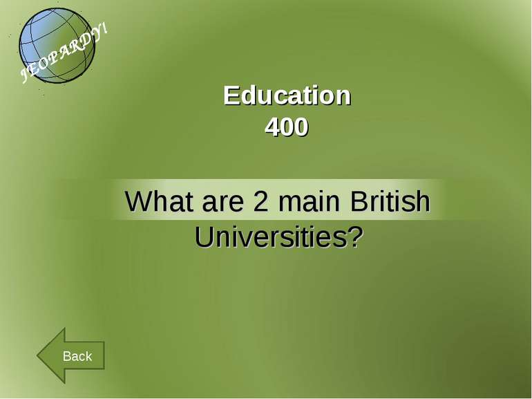 Education 400 Back