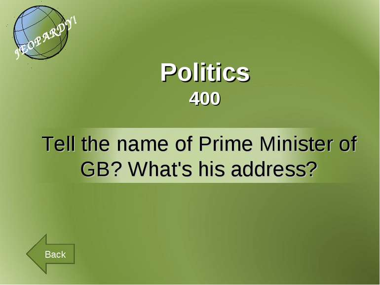 Politics 400 Back