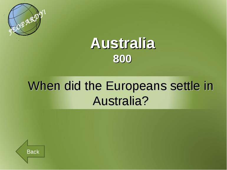Australia 800 Back