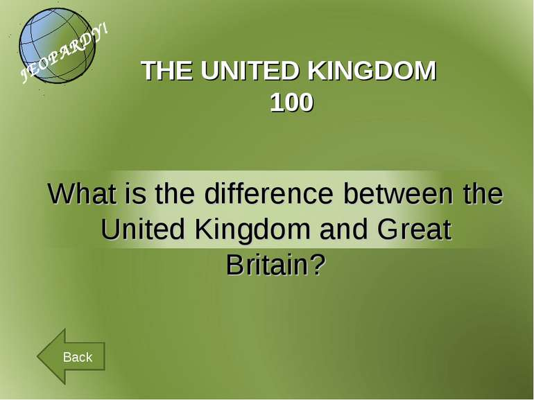 THE UNITED KINGDOM 100 Back