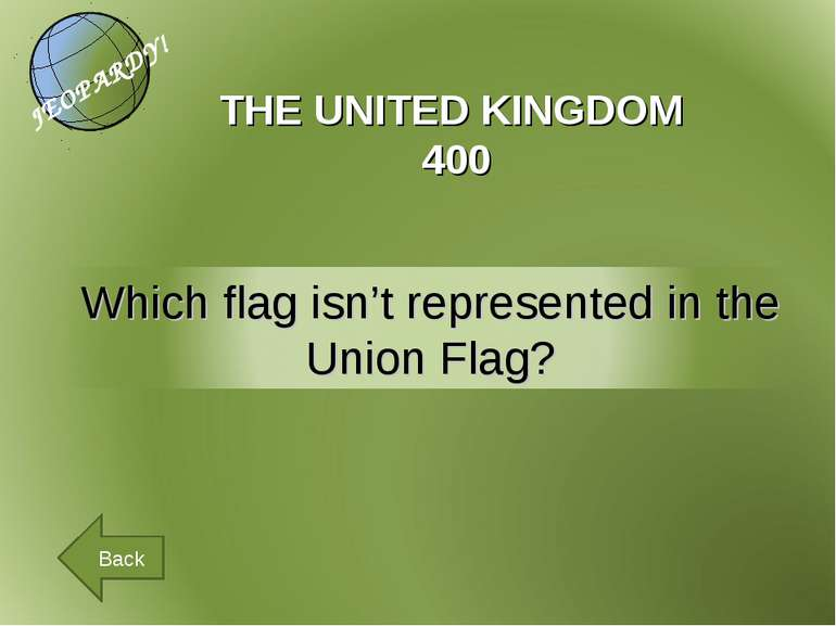 THE UNITED KINGDOM 400 Back