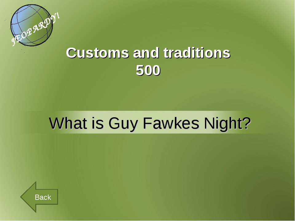 Customs and traditions 500 Back