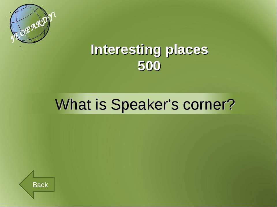 Interesting places 500 Back