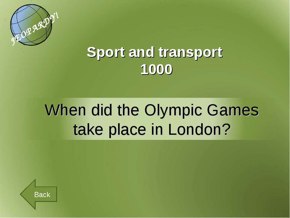 Sport and transport 1000 Back