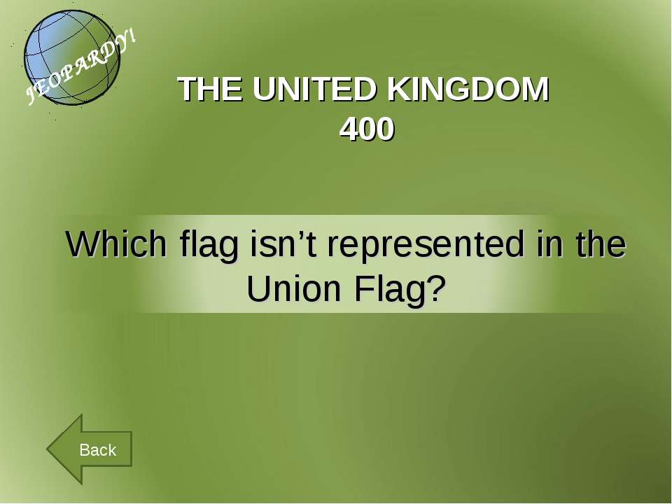 THE UNITED KINGDOM 400 Back