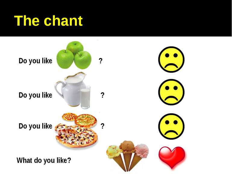 The chant Do you like ? Do you like ? Do you like ? What do you like?