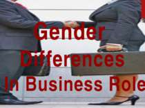 Gender Differences In Business Role