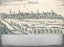 This is the engraving of Saratov in XVII century by Adam Olearius, German sci...