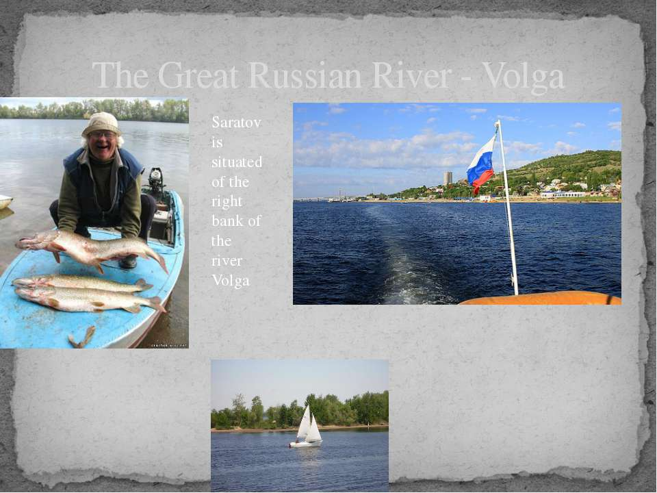 The Great Russian River - Volga Saratov is situated of the right bank of the ...