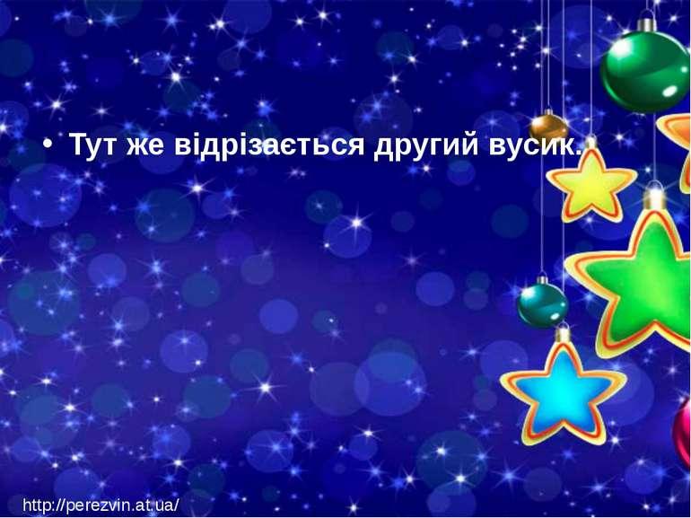 Тут же відрізається другий вусик. http://perezvin.at.ua/