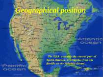 The USA occupies the central part of North America. It stretches from the Pac...