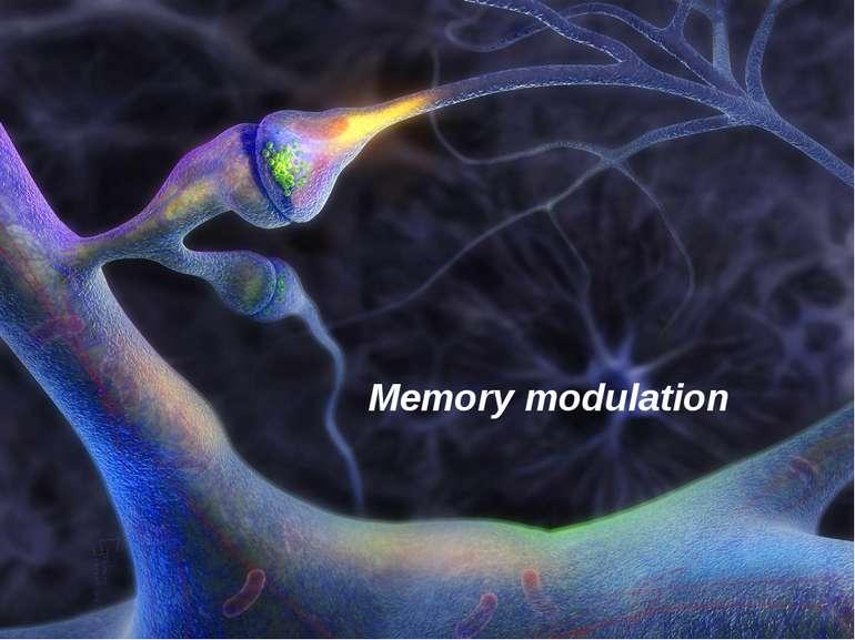 Memory modulation